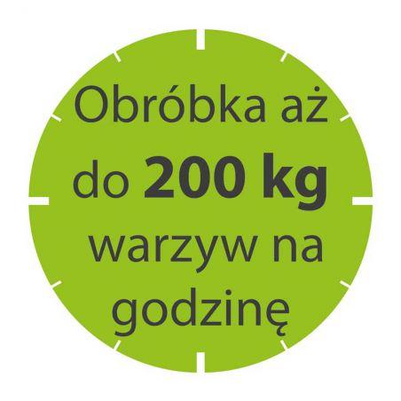 Szatkownica do warzyw CL20 230 V z kompletem tarcz 714073 | Stalgast 713200