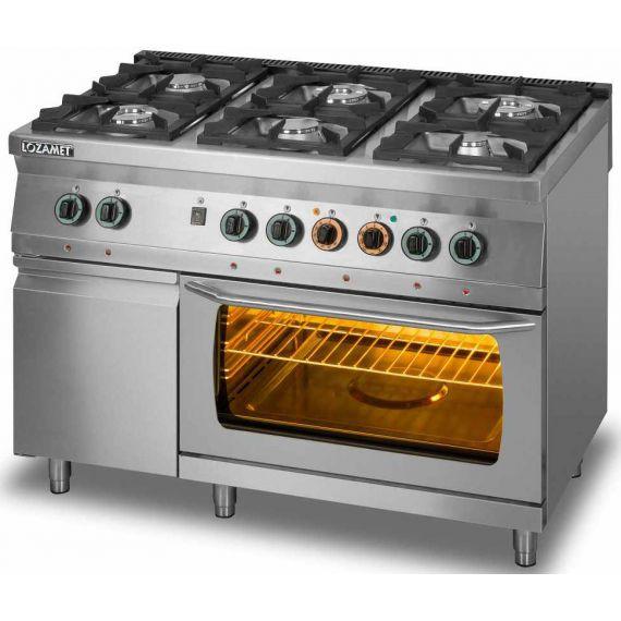 Kuchnia Gazowa 6 Palnikowa Z Piekarnikiem Elektrycznym Gn 2 1 I Z